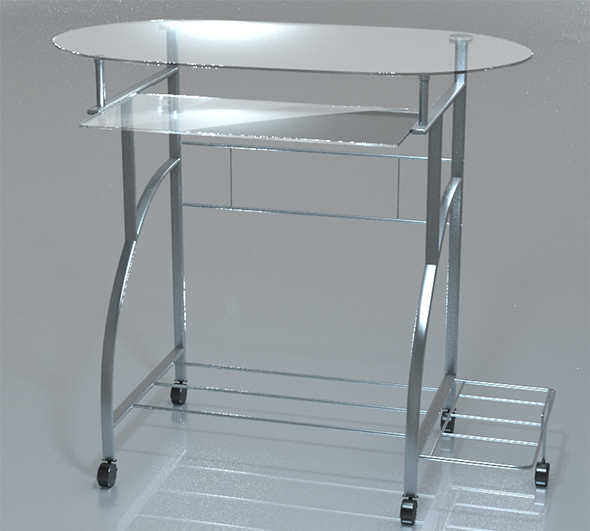 3DOcean PC Desk Glass 10993703