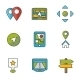 GPS and Navigation Icons Set