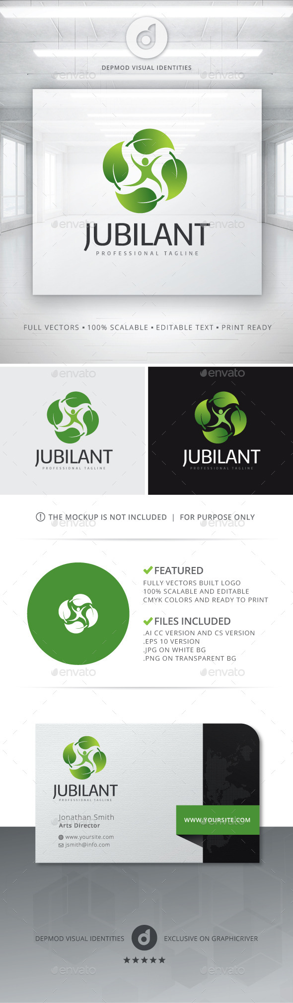 GraphicRiver Jubilant Logo 10993827