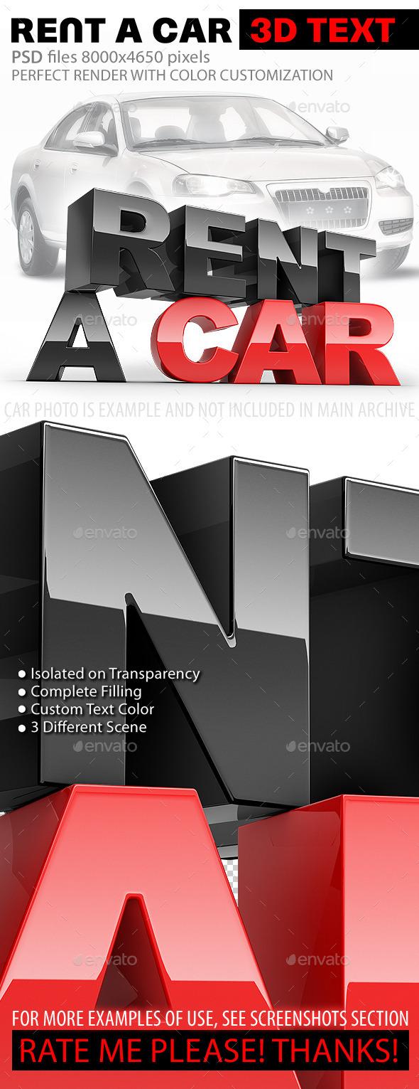 GraphicRiver Rent A Car 3D Text 10993832
