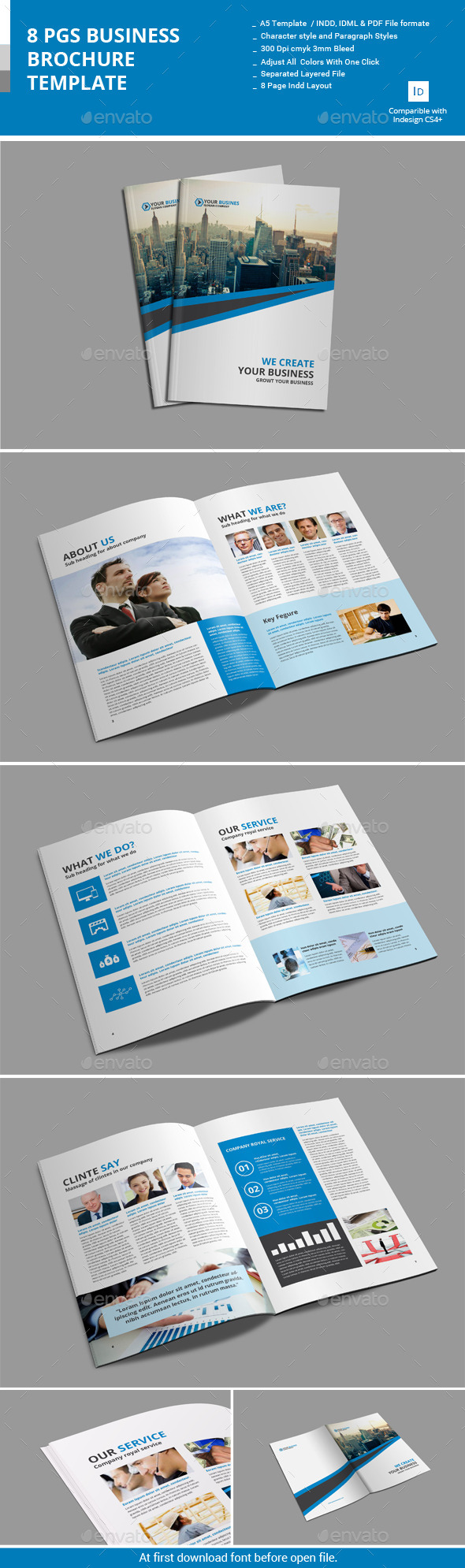 GraphicRiver 8 Pages Business Brochure Template 10993897