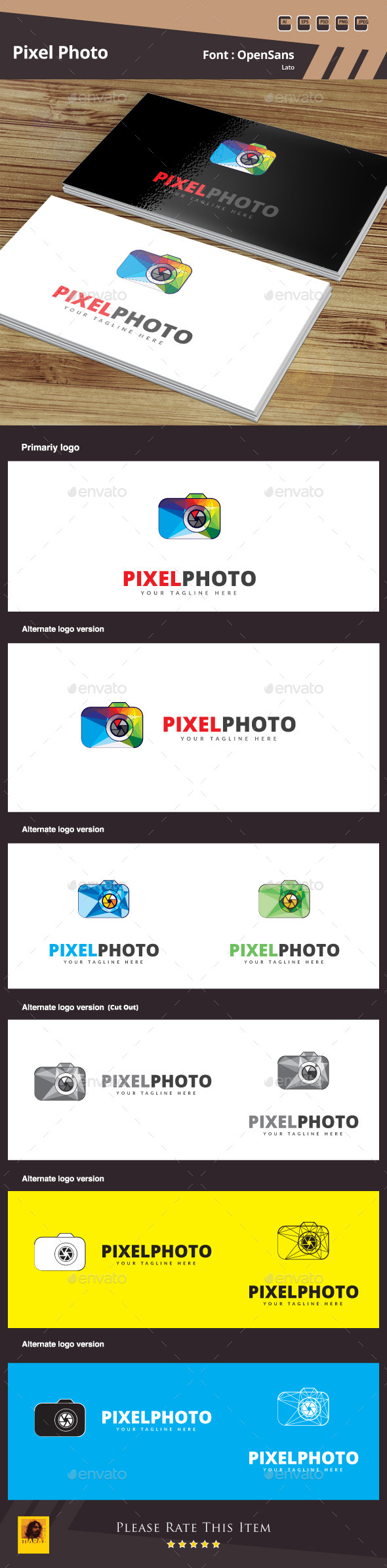 GraphicRiver Pixel Photo Logo Template 10993898