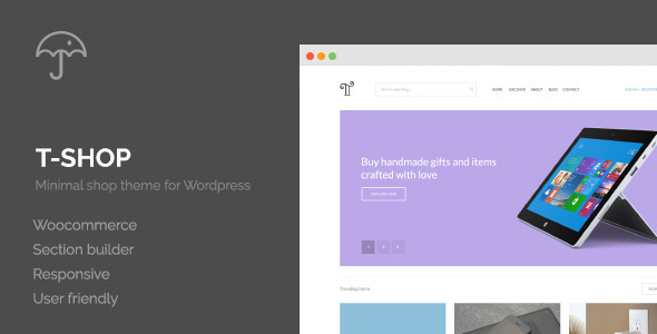 ThemeForest T-Shop eCommerce WordPress Theme 10920081