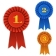 Winner Rosette Set with Ribbons. - GraphicRiver Item for Sale