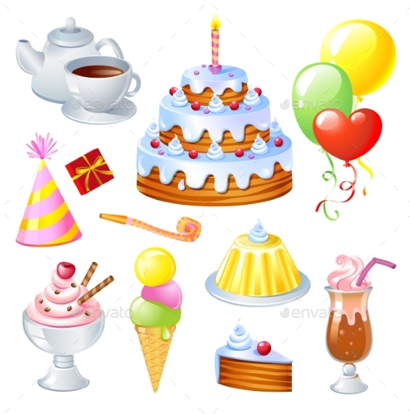 GraphicRiver Birthday Set 10994244