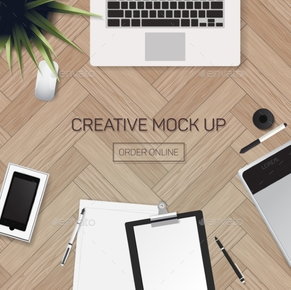 GraphicRiver Office Workplace 10994405