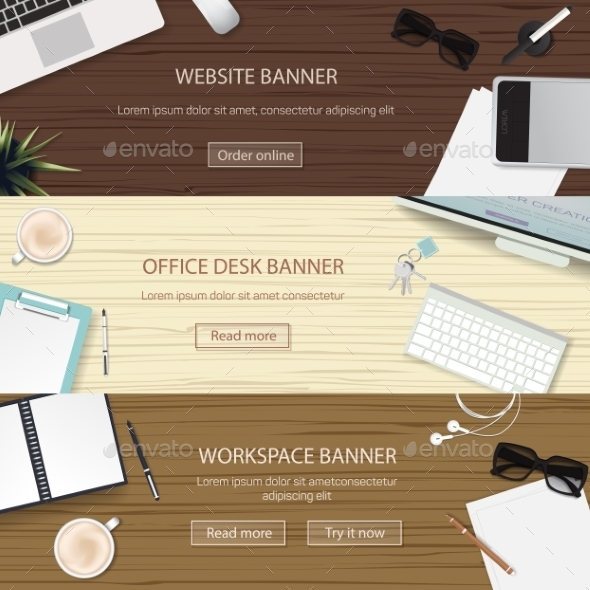 GraphicRiver Office Workplace Banners 10994440