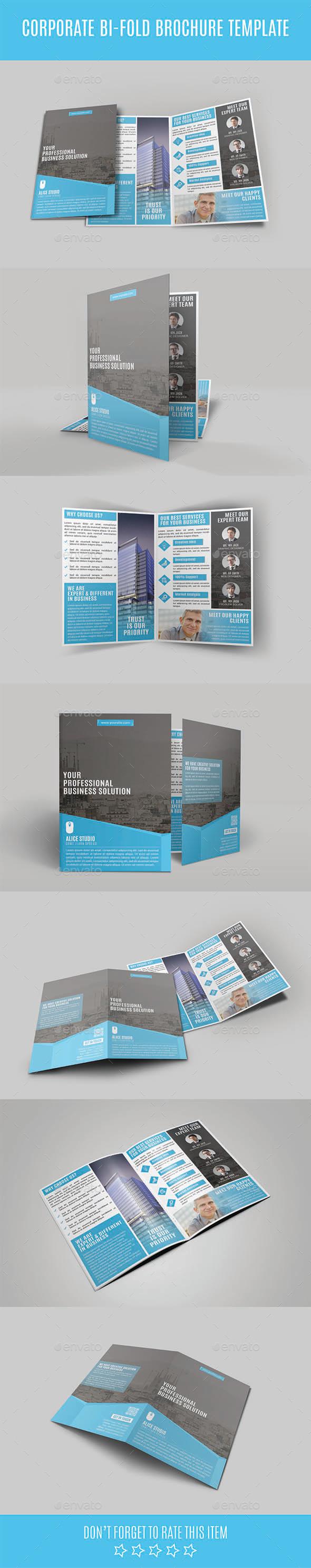 GraphicRiver Corporate Bi-Fold Brochure Template 10994616