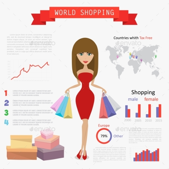 GraphicRiver Shopping Infographic 10994858