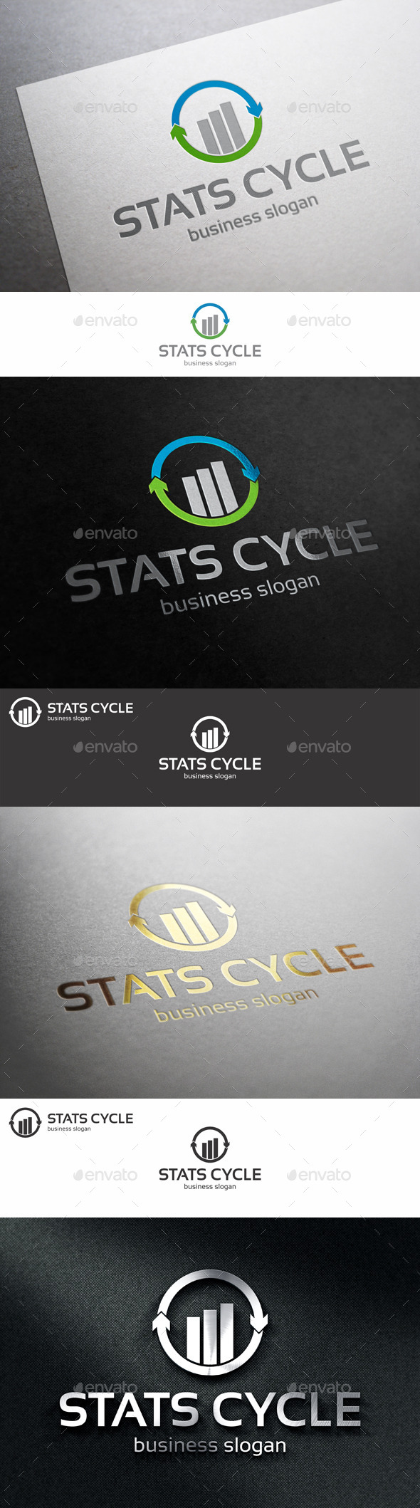 GraphicRiver Stats Cycle Marketing Logo 10994928