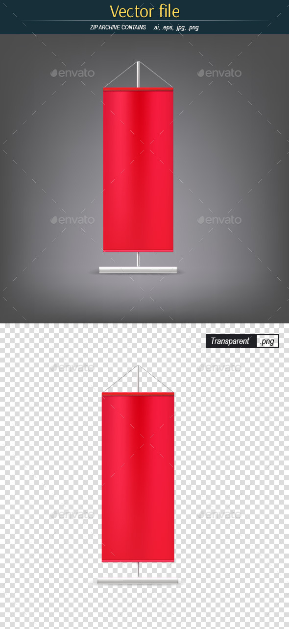 GraphicRiver Vertical Red Flag 10994966