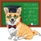 Graduated Dog Pembroke Welsh Corgi - GraphicRiver Item for Sale