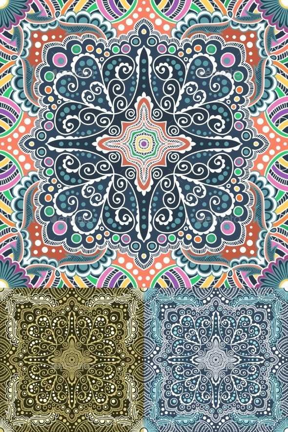 GraphicRiver Spirals and Swirl Pattern Set 10995068
