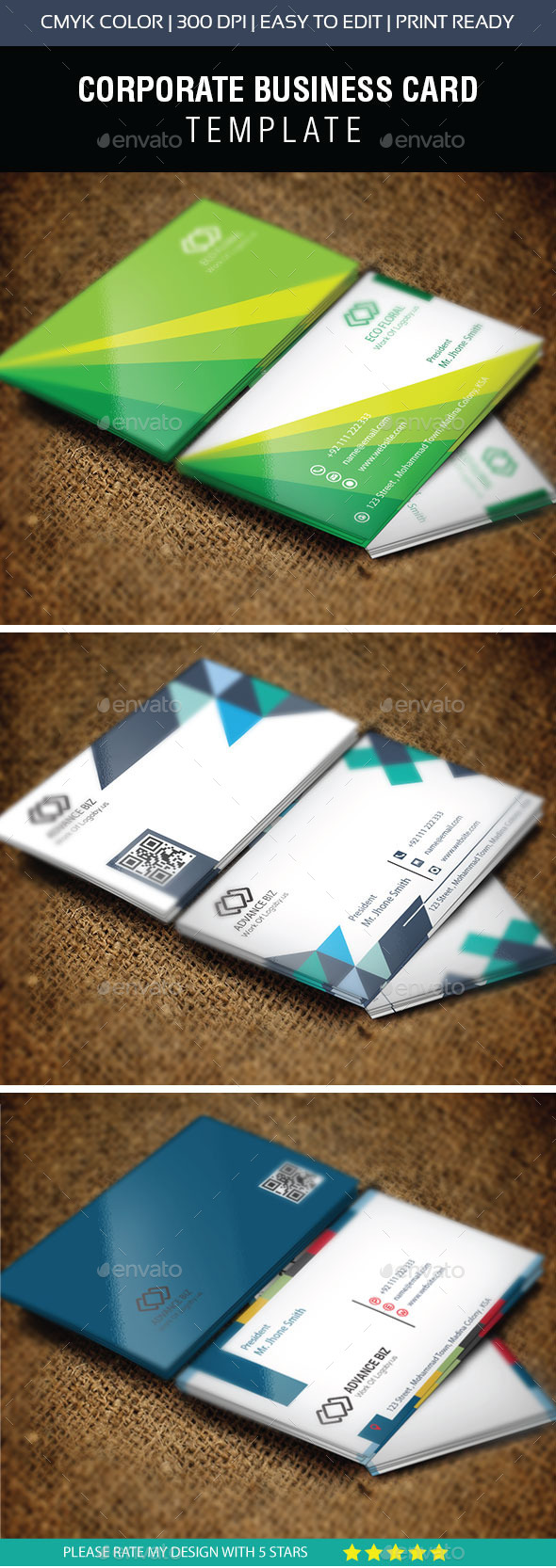 GraphicRiver Creative Corporate Business Card Bundle 10995081