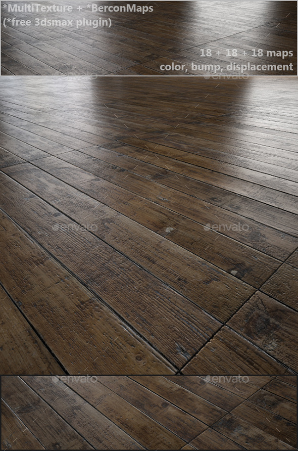 3DOcean Antique oak parquet MultiTexture 10995101