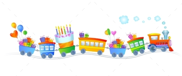 GraphicRiver Happy Birthday Train 10995110