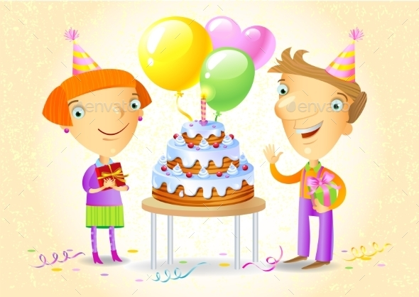 GraphicRiver Family Celebrating a Birthday Party 10995114