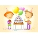 Family Celebrating a Birthday Party - GraphicRiver Item for Sale