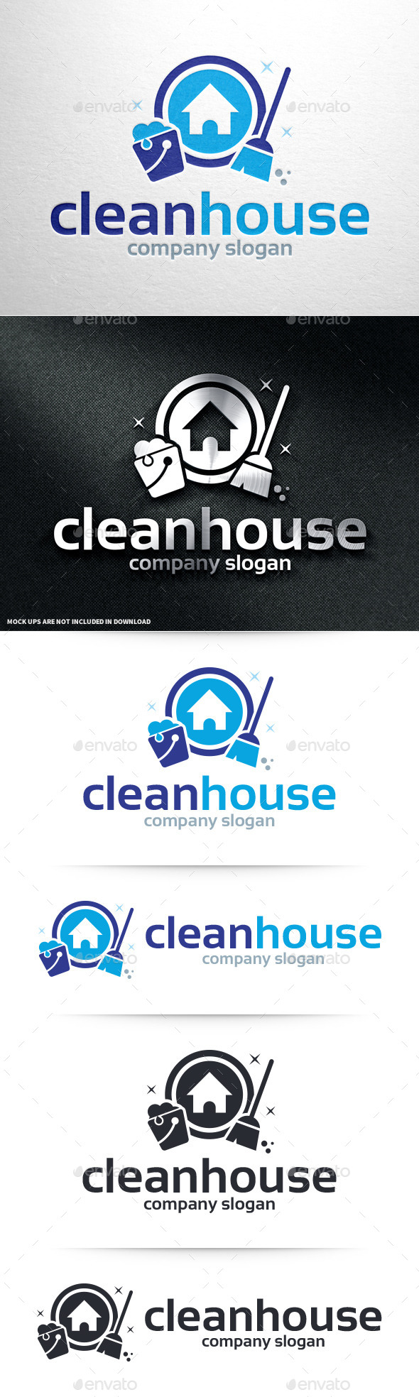 GraphicRiver Clean House Logo Template 10995180