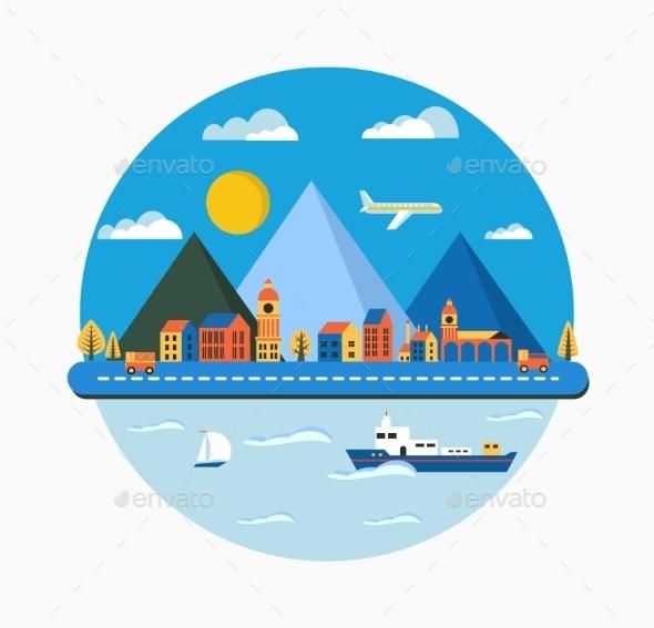GraphicRiver Urban Landscape 10995185