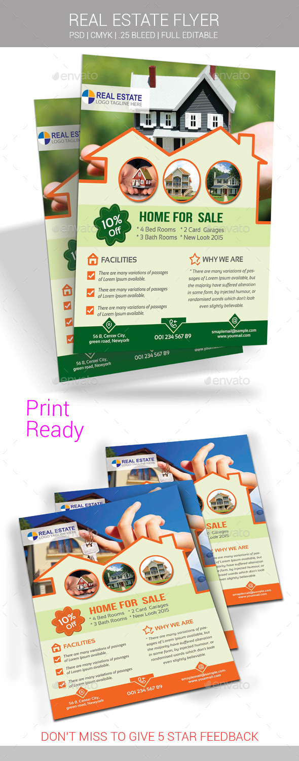 GraphicRiver Real Estate Flyer 10995221