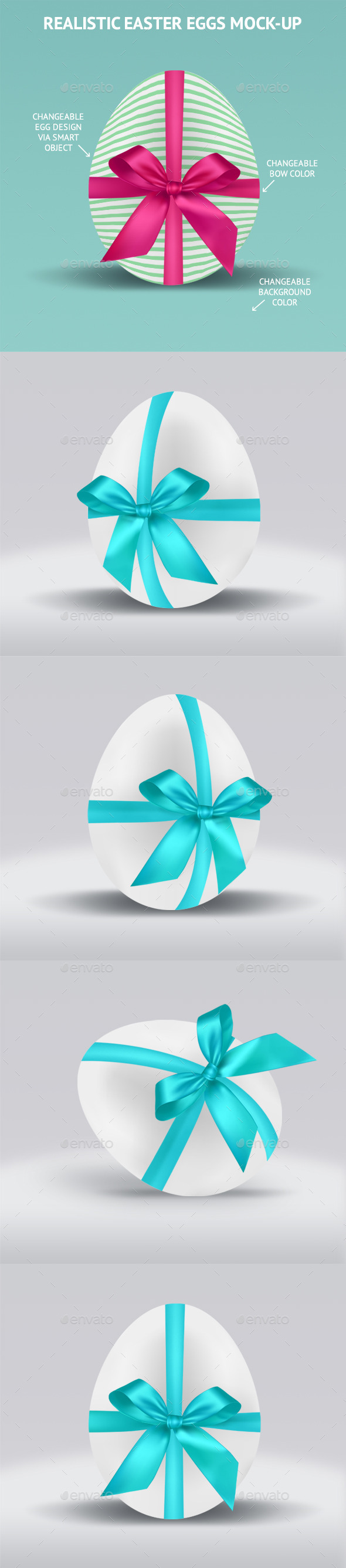 GraphicRiver Realistic Easter Eggs Mock-up 10995229