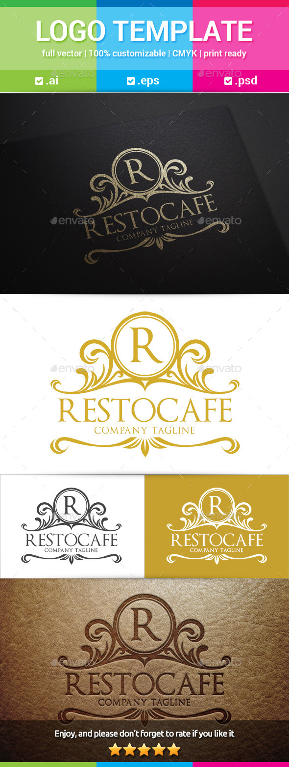 GraphicRiver Restocafe Vintage Logo 10995375