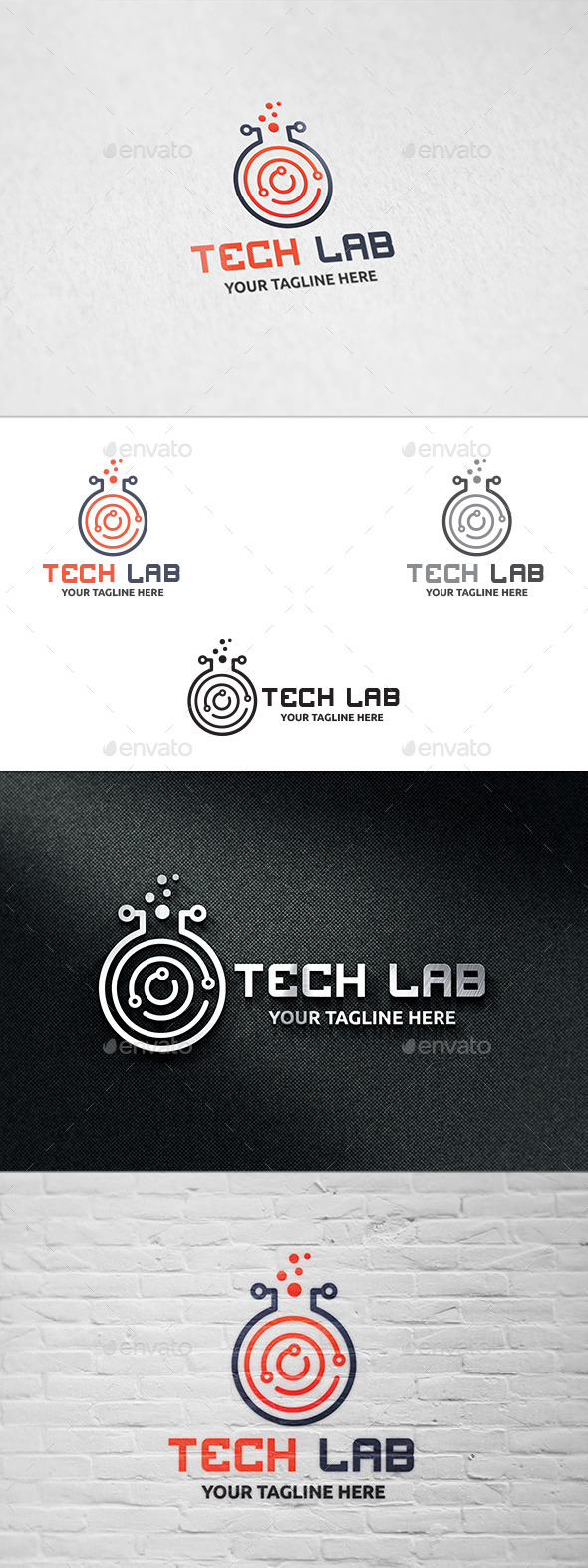 GraphicRiver Tech Lab Logo Template 10995434