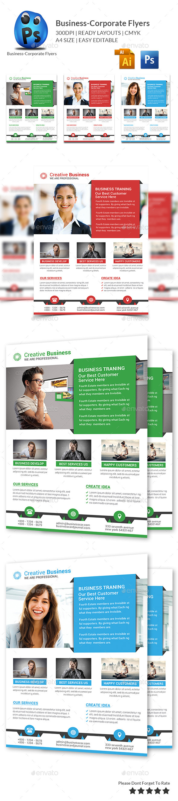 GraphicRiver Corporate Business Flyer Template 10995440