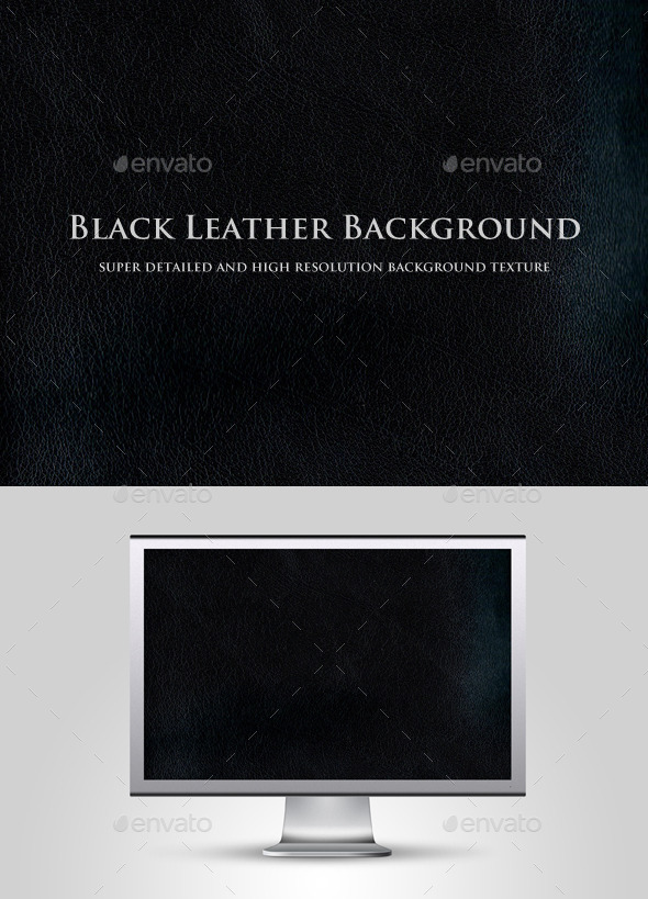 GraphicRiver Black Leather Background 10995535