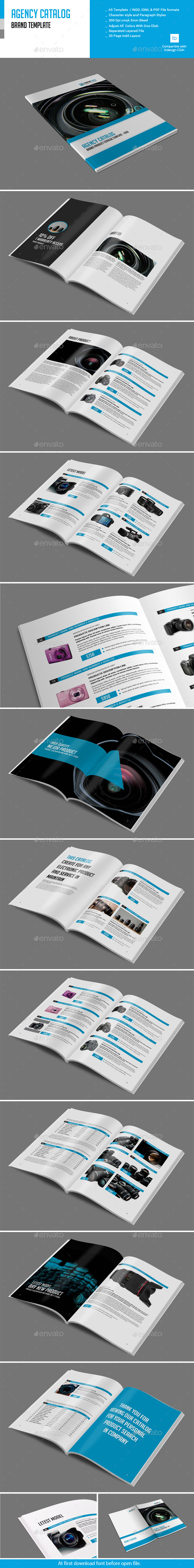 GraphicRiver Agency Calalog Brand Template 10995718