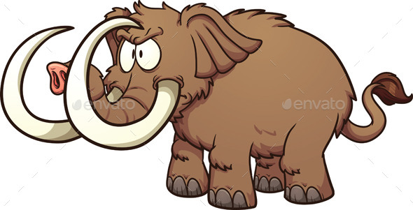 GraphicRiver Cartoon Mammoth 10995808