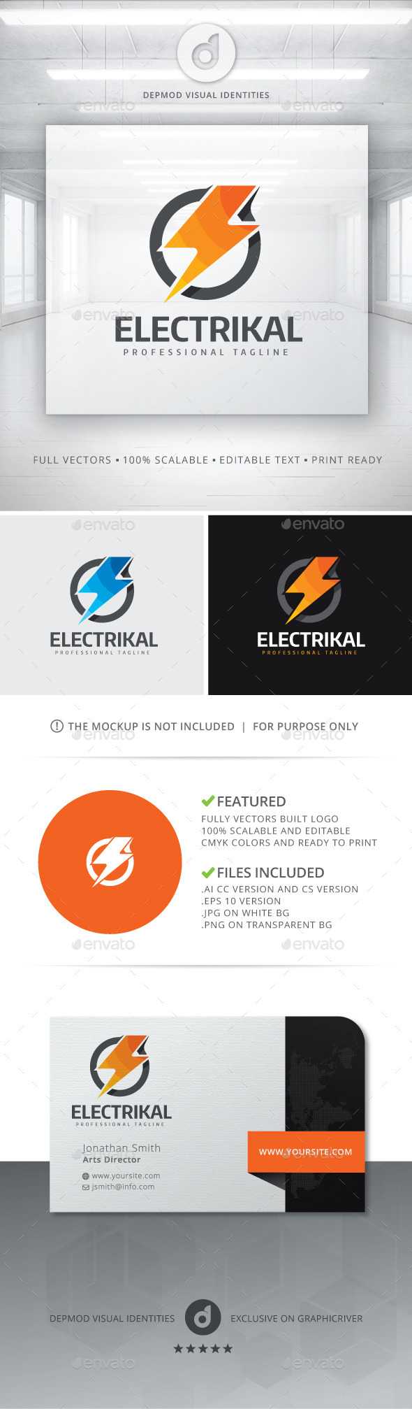 GraphicRiver Electrikal Logo 10995947