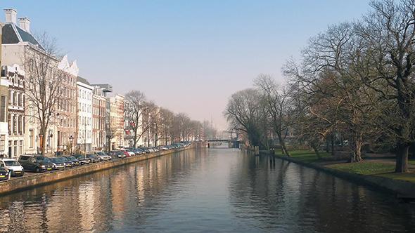 Nice Houses Facing Park Across Canal