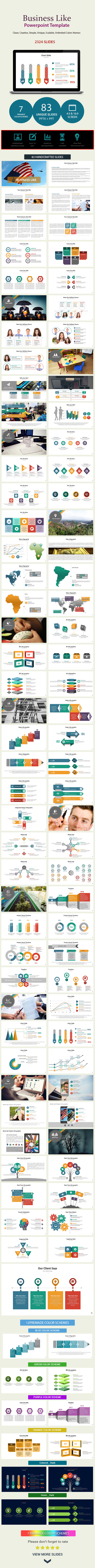 GraphicRiver Business Like Presentation Template 10996229