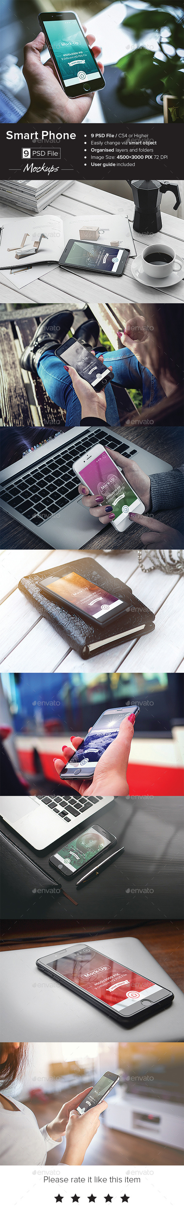 GraphicRiver Smart Phone Mock-Up 10933642
