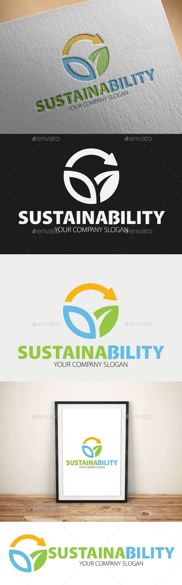 GraphicRiver Sustainability Logo Templates 10996431