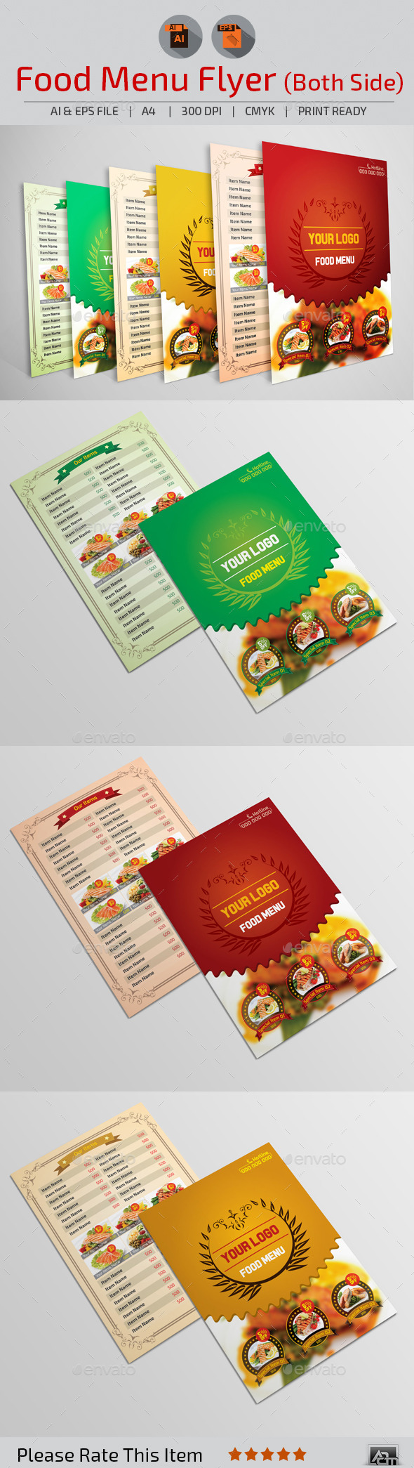 GraphicRiver Food Menu Flyer 10946879
