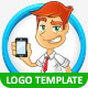 Tech Geek Vector Logo Template & Mascot - GraphicRiver Item for Sale