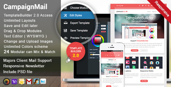Download CampaignMail - Responsive E-mail Template nulled download