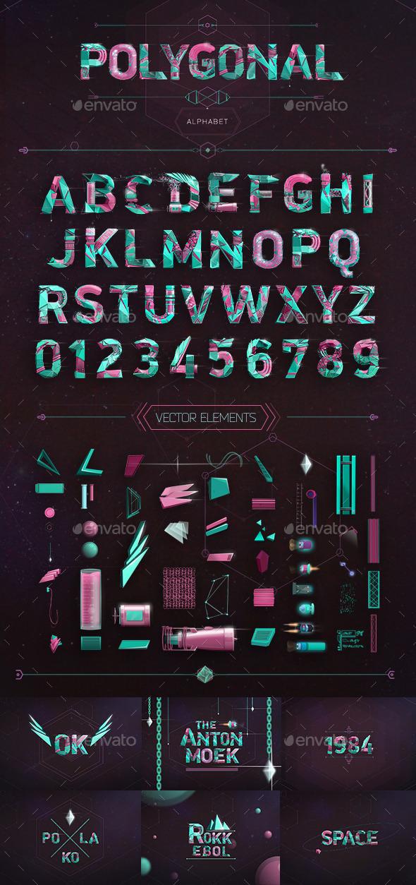 GraphicRiver Polygonal Alphabet 10938951