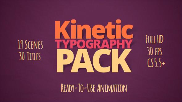 AE模板:干净简洁 19个场景 30个文字标题排版动画 电视包装模板