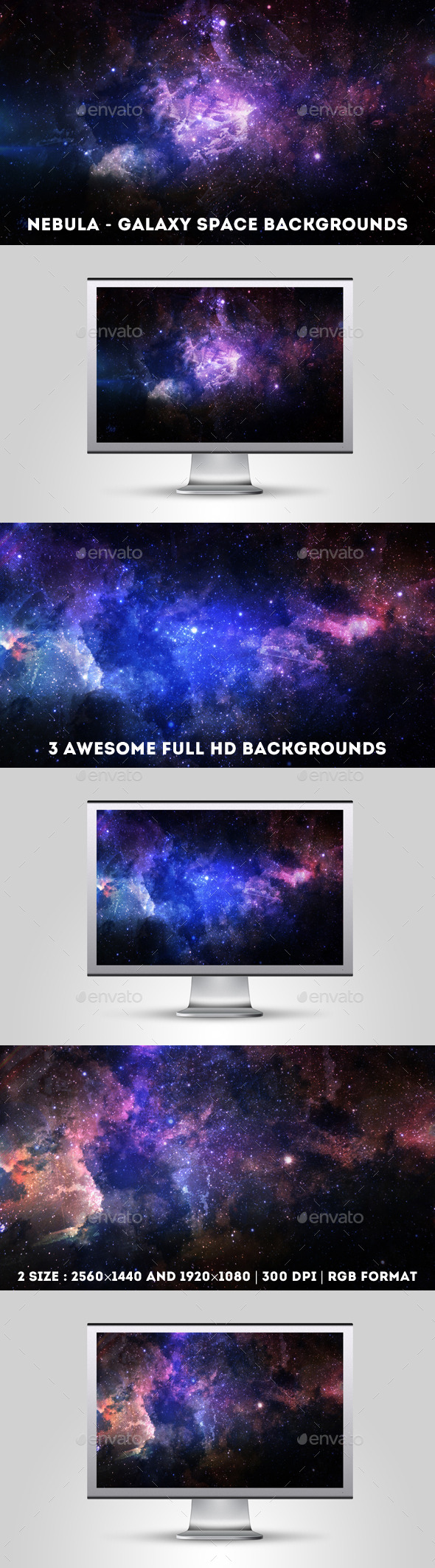 GraphicRiver Nebula Galaxy Space Backgrounds 10997587