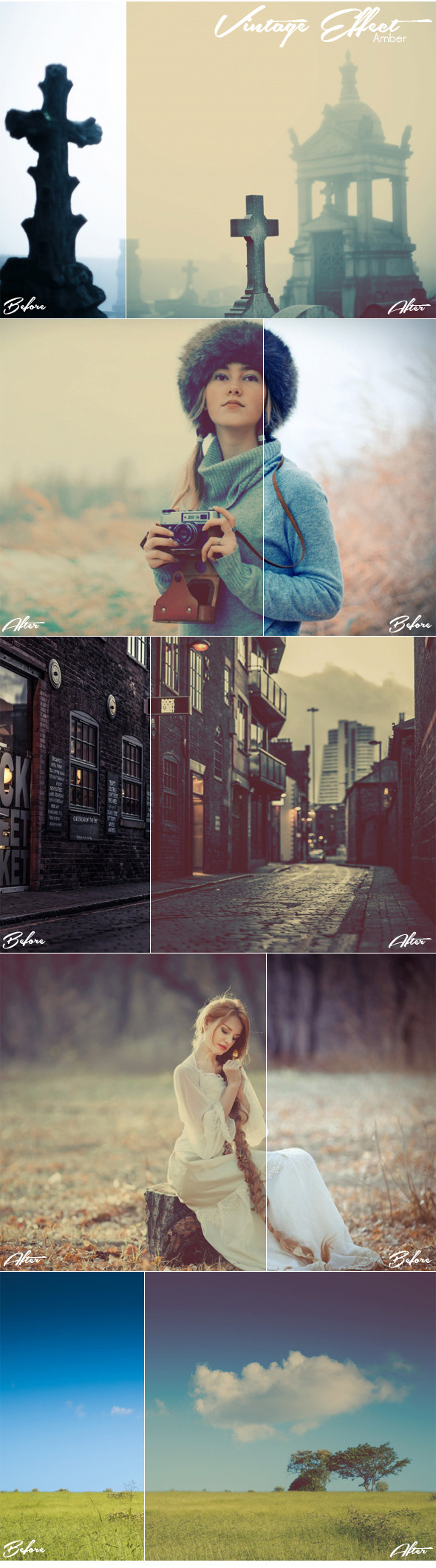 GraphicRiver Vintage Effect Amber 10997806