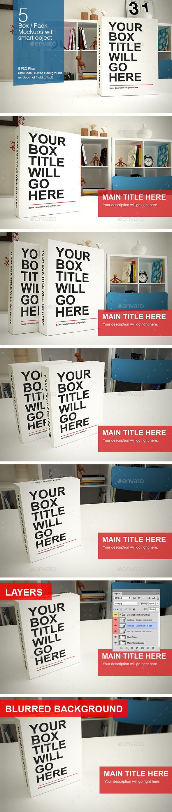 GraphicRiver Box Pack Mockups 10997882