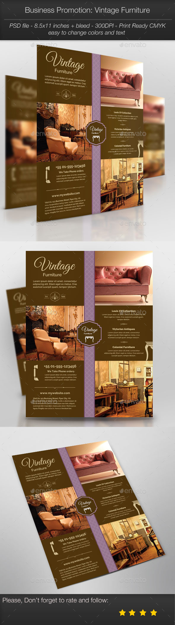 GraphicRiver Business Promotion Vintage Furniture 10997990
