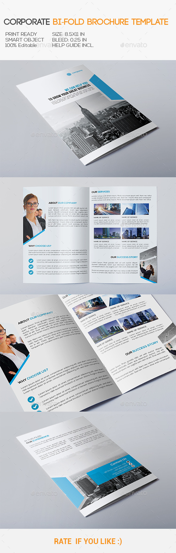 GraphicRiver Corporate Bi-Fold Brochure 10998030