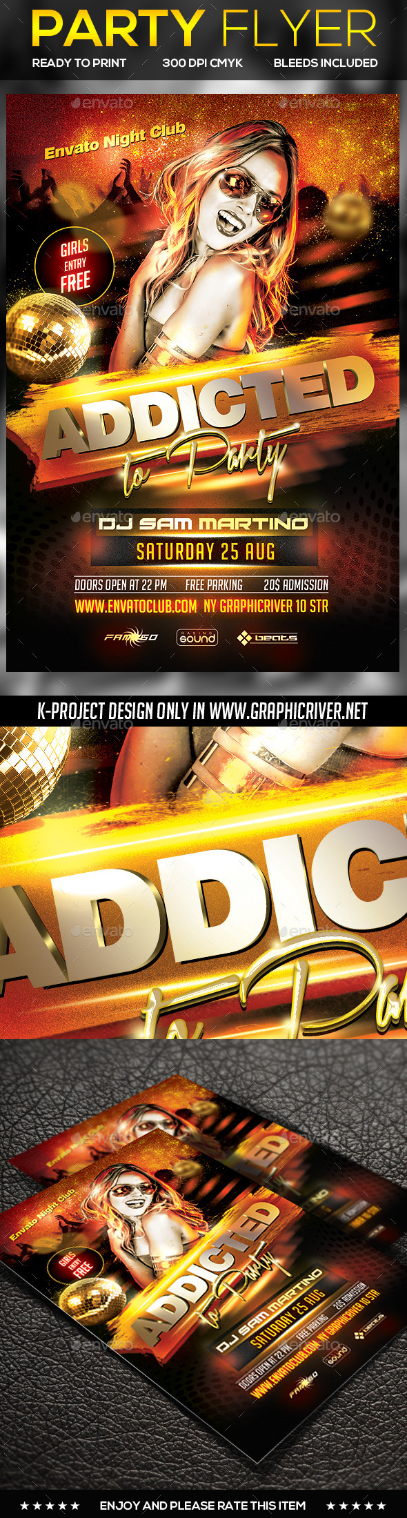 GraphicRiver Party Flyer 10998038
