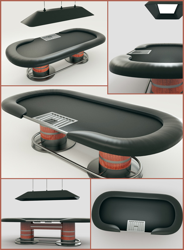 3DOcean Poker Table 3D Model 10998093