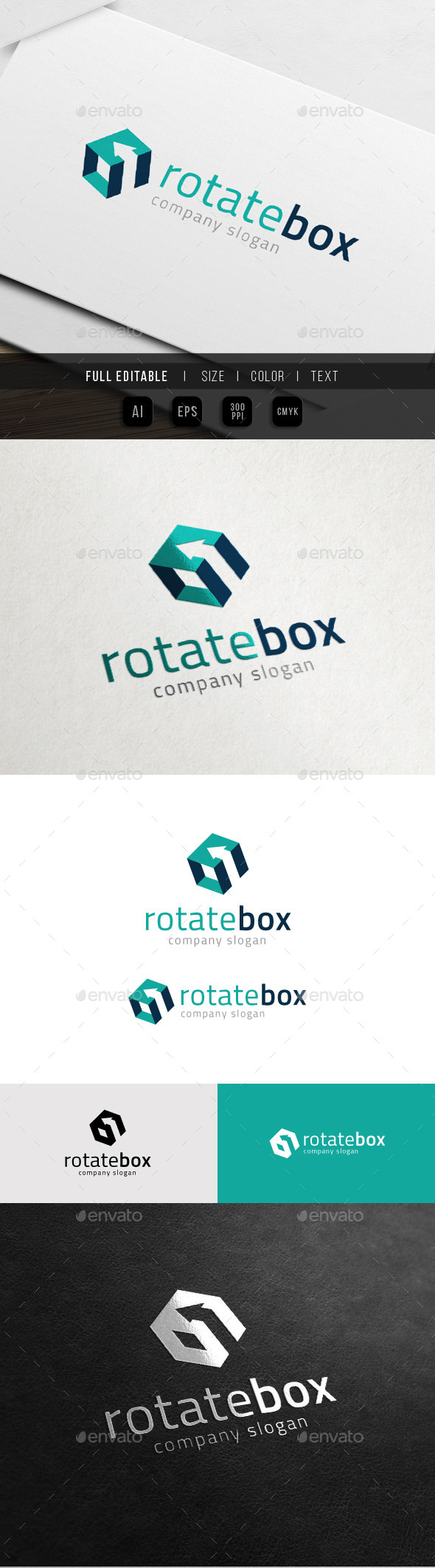 GraphicRiver Fast Rotate Studio Box Marketing Agency Logo 10998172